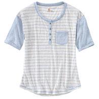 Carhartt Women's Striped Henley Short-Sleeve Shirt