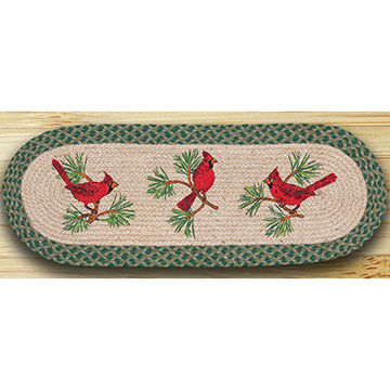 Capitol Earth Cardinals Oval Patch Runner Braided Rug