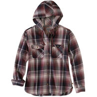 Carhartt Women's Beartooth Hooded Flannel Long-Sleeve Shirt