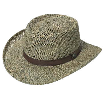 Broner Mens Twisted Seagrass Riverboat Hat