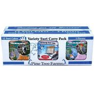 Pine Tree Farms 3 Flavor Suet Cake Bird Food Pack - 12 Pk.