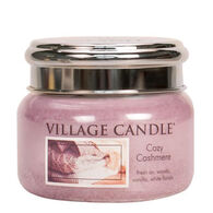 Village Candle Small Glass Jar Candle - Cozy Cashmere