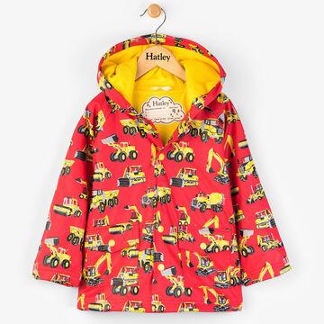 Hatley Boys Heavy Duty Machines Classic Raincoat