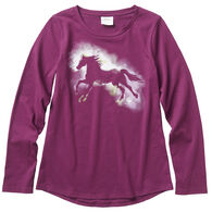 Carhartt Girl's Watercolor Horse Long-Sleeve Shirt