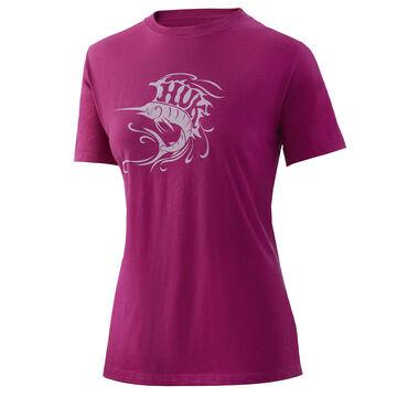 Huk Womens Go Fish Crew Short-Sleeve T-Shirt
