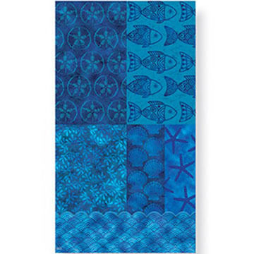 Cape Shore Beach Batik Guest Towel Napkin