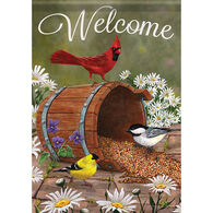 Carson Home Accents Flagtrends Barrel Of Birds Garden Flag