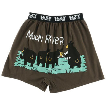 Lazy One Men's Critters Moon River Comical Boxer Short