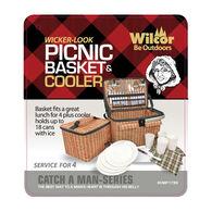 Wilcor Faux Wicker Picnic / Cooler Basket