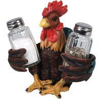 Rivers Edge Rooster Salt and Pepper Shaker Holder