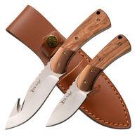 Elk Ridge ER-200-10BR Fixed Blade Knife Set