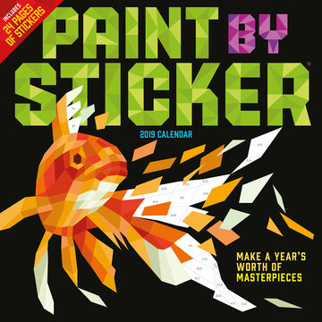 Paint by Sticker 2019 Wall Calendar by Workman Publishing