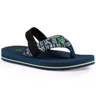 Sanuk Boys' Rootbeer Cozy Light Funk Sandal