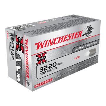 Winchester Super-X 32-20 Winchester 100 Grain Lead Rifle Ammo (50)
