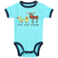 Lazy One Infant Boy's Duck Duck Moose Blue Creeper