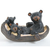 Slifka Sales Co Bears In Canoe Figurine