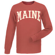 Cape Cod Textile Men's Maine Arch Design Long-Sleeve T-Shirt