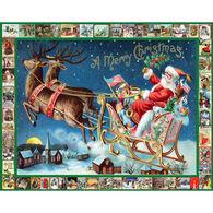 White Mountain Jigsaw Puzzle - Santa's Sleigh