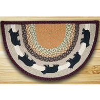 Capitol Earth Cabin Bear Printed Slice Rug