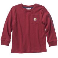 Carhartt Toddler Boy's Logo Pocket Long-Sleeve Shirt