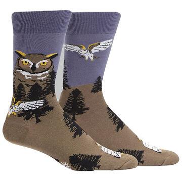 Sock It To Me Mens Owl Mountain Crew Sock
