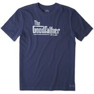 Life is Good Men's The Goodfather Crusher Short-Sleeve T-Shirt