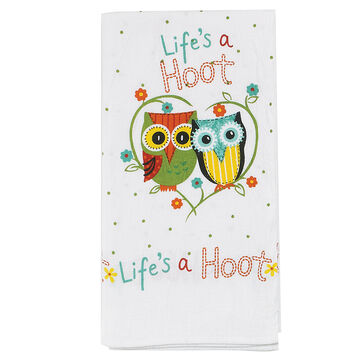 Kay Dee Designs Lifes A Hoot Flour Sack Towel
