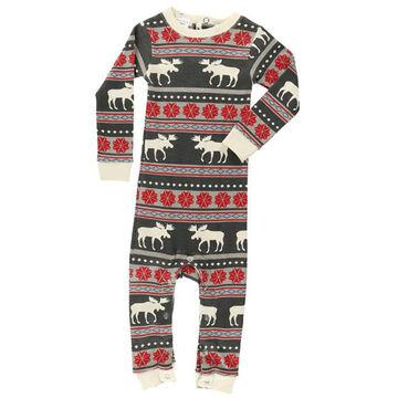 Lazy One Infant Boys Moose Fair Isle Union Suit