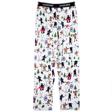 Hatley Little Blue House Mens Hockey Night in the Wild Jersey Pajama Pant