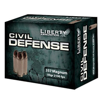 Liberty Civil Defense 357 Magnum 50 Grain Lead-Free HP Handgun Ammo (20)