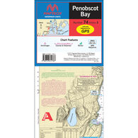 Maptech Folding Waterproof Chart - Penobscot Bay
