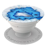 PopSockets Ice Blue Agate Mobile Device Expanding Stand & Grip