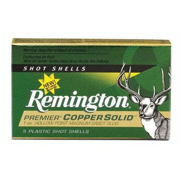 "Remington Premier Copper Solid 12 GA 2-3/4"" 1 oz. Sabot Slug Ammo (5)"