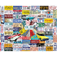 White Mountain Jigsaw Puzzle - License Plates