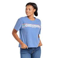 Life is Good Women's Optimist Retro Stripe Boxy Crusher Short-Sleeve T-Shirt
