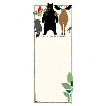 Hatley Back To Nature Magnetic List Notepad
