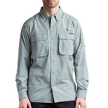 ExOfficio Mens Air Strip Micro Plaid Long-Sleeve Shirt