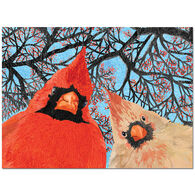 Allport Editions Quirky Cardinal Birds Boxed Holiday Cards