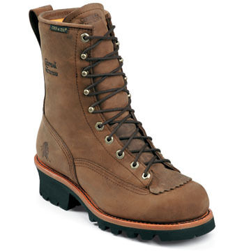 Chippewa Mens 8  Waterproof Steel Toe Non-Insulated Logger Boot
