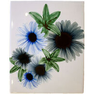 Radiant Art Blue Floral 8 x 10 Tile