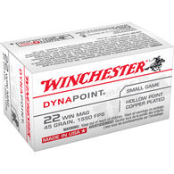 Winchester DynaPoint 22 Winchester Mag 45 Grain CPHP Ammo (50)