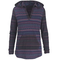 Woolrich Women's Mile Run II Striped Hooded Pullover