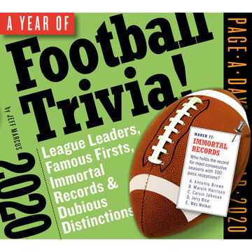 A Year of Football Trivia! 2020 Page-A-Day Calendar by Jeff Marcus
