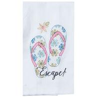 Kay Dee Designs Summer Fun Flip Flops Embroidered Flour Sack Towel