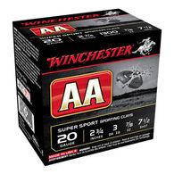 """Winchester AA Target 20 GA 2-3/4"""" 7/8 oz. #7-1/2 Shotshell Ammo (25)"""