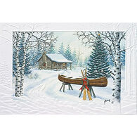 Pumpernickel Press Christmas Canoe Deluxe Boxed Greeting Cards