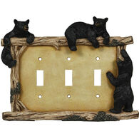 Rivers Edge Bear Triple Switch Plate Cover