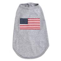 The Worthy Dog American Flag Dog Tee