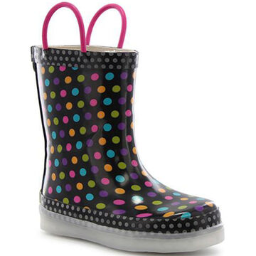 92800ea42b63 Western Chief Girls  Darling Dot Lighted Rain Boot