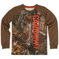 Carhartt Boys' Carhartt Raglan Camo Long-Sleeve T-Shirt
